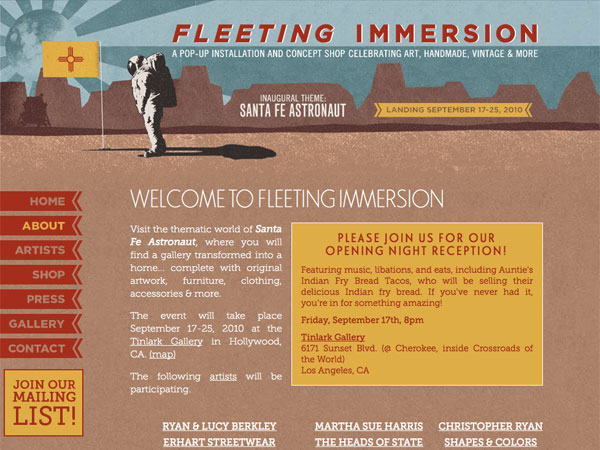Fleeting Immersion Web Site