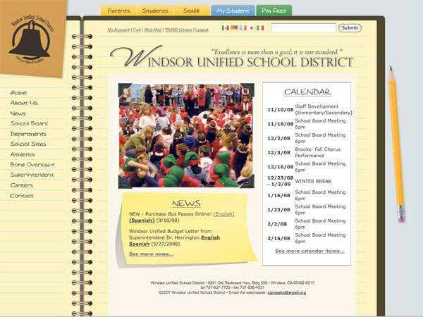 Windsor Unified Web Site