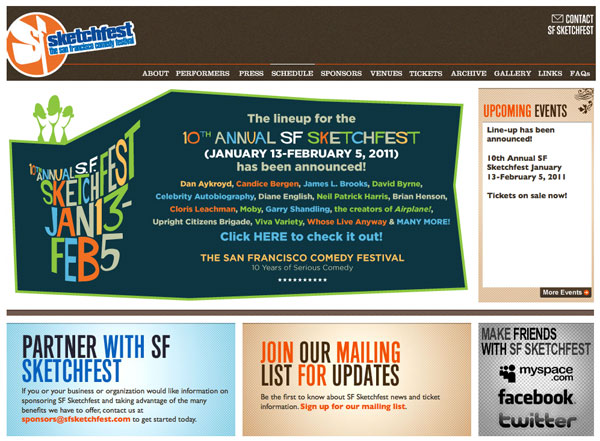 SF Sketchfest Web Site